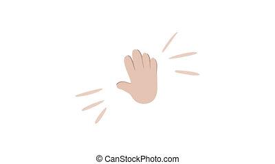 applaudir, hd, entiers, icône, applaudissements, logo., ...