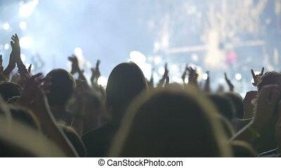 applaudir, public, artiste