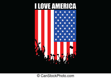 applaudissement, américain, gens