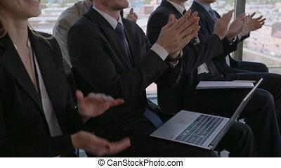 applaudisseren, opleiding, publiek, zakelijk