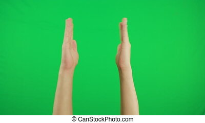 Applause, clapping hands. Gesture pack chroma key. Man's...