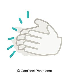 Applause, clapping hands icon, isometric 3d style