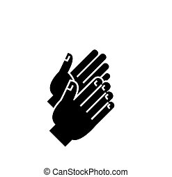 applause icon, vector illustration, black sign on isolated background