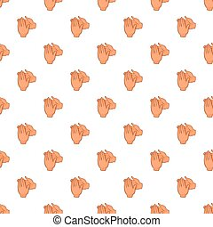 Applause pattern, cartoon style