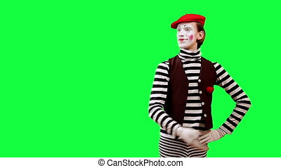 Applause - Funny mime boy applauds. This clip is pre-matted...