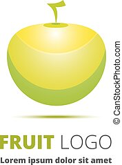 Apple. Abstract image as a logo