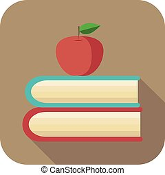 Apple and book.