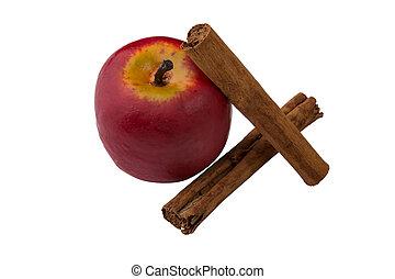 Apple and cinnamon - An apple with cinnamon for christmas...