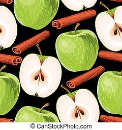 Apple and cinnamon seamless