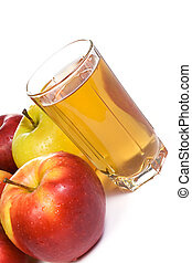 apple and glass with juice