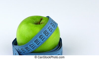 Apple and Measurement Diet Fit Life Concept