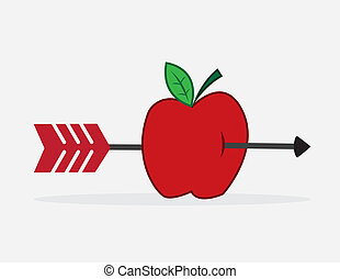 Apple Arrow  - Arrow shot through red apple