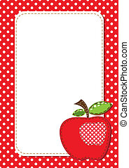 apple background - fabric apple background