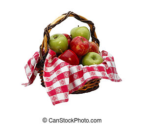 Apple Basket with clipping path
