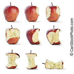 apple bite fruit healthy diet food