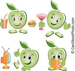 Apple cartoon Set