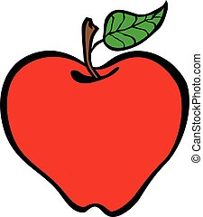 Apple cartoon vector icon