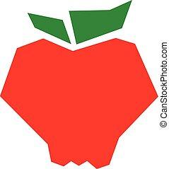 Apple cartoon vector icon