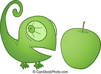 Apple chameleon