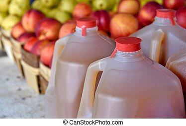 apple cider in jugs