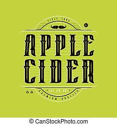 Apple cider logo in vintage style