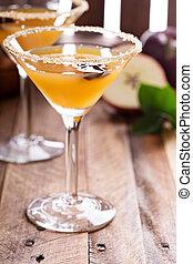 Apple cider martini with star anise - Apple cider martini...