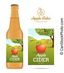 Apple cider sticker