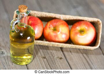 Apple Cider Vinegar - Homemade Vinegar galas apples on a...
