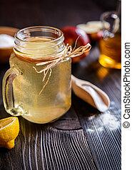 Apple cider vinegar, lemon and baking soda drink - Detox...