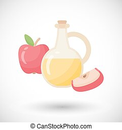 Vector flat apple cider vinegar bottle template vector eps apple cider vinegar vector flat icon malvernweather Gallery