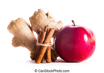 Apple, cinnamon and ginger