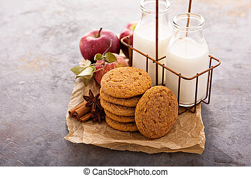 Apple cinnamon snickerdoodle cookies