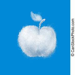 apple cloud on blue sky