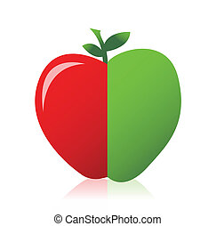 apple combined from red and green
