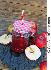 apple compote and apples