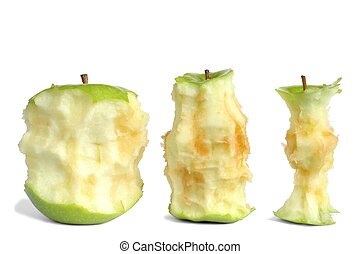 Apple Cores - Isolated apple cores