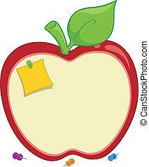 Apple Corkboard - Illustration of an Apple-shaped Corkboard...