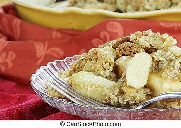 Apple Crisp 2 - Freshly baked apple crisp. Shallow depth of ...