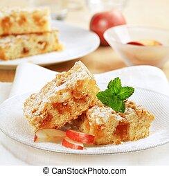 Apple crumb cake - Pieces of apple crumb cake