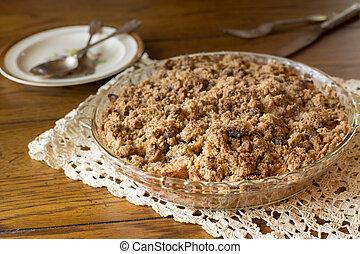 Apple Crumb Pie - Fresh homemade dutch apple crumb dessert...