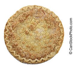 Apple Crumb Pie ,Top View