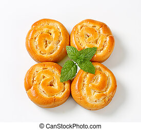 Apple Custard Pinwheels