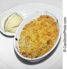 Apple  Dessert With  Ice Cream