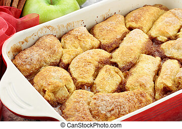 Apple Dumplings - Apple dumplings. Apples wrapped in cresent...