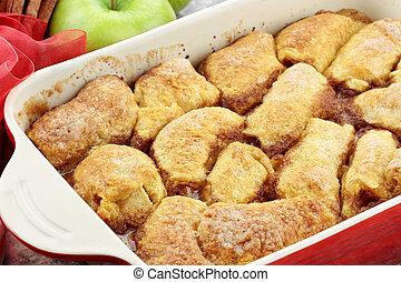 Apple Dumplings - Apple dumplings. Apples wrapped in cresent...