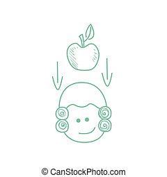 Apple Falling On Newtons Head