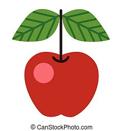 apple flat illustration on white