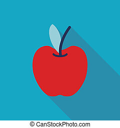 Apple Flat style Icon with long shadows
