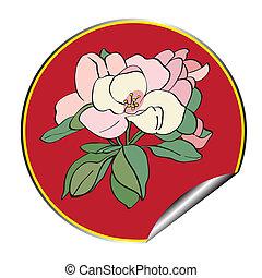 apple flower sticker