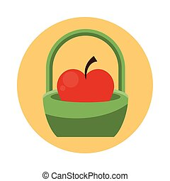 apple fresh fruit in basket